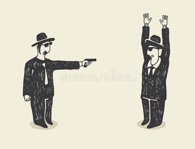 O terror ilustração do vetor