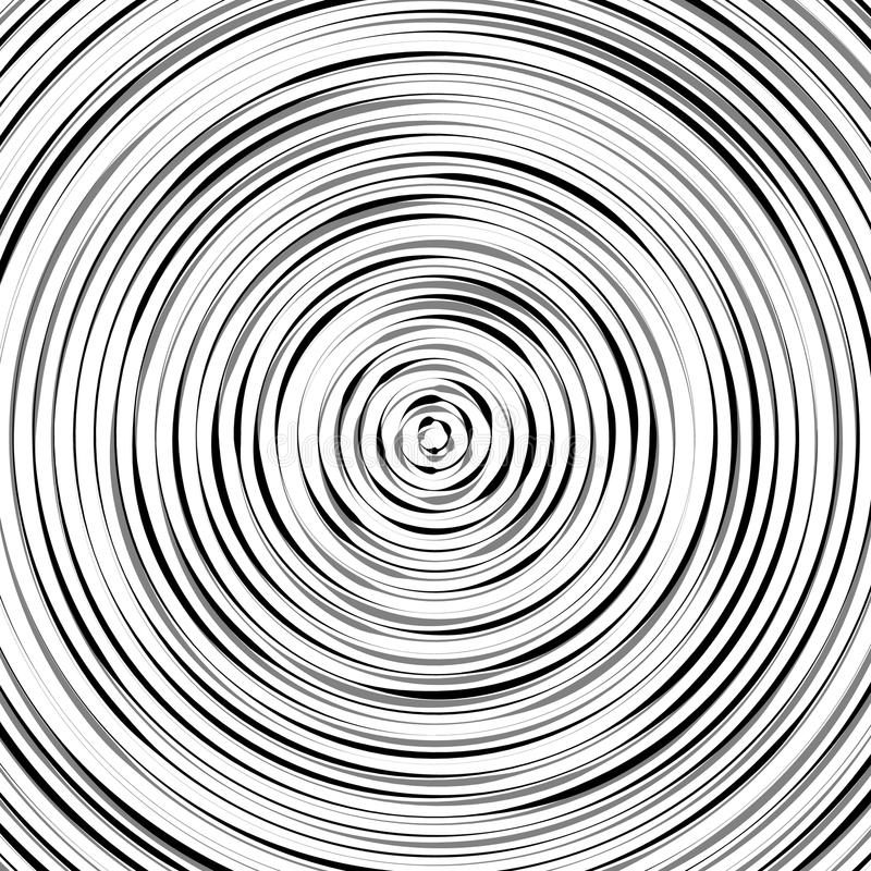 O teste padrão circular da ondinha, círculos concêntricos, soa o geom abstrato ilustração stock
