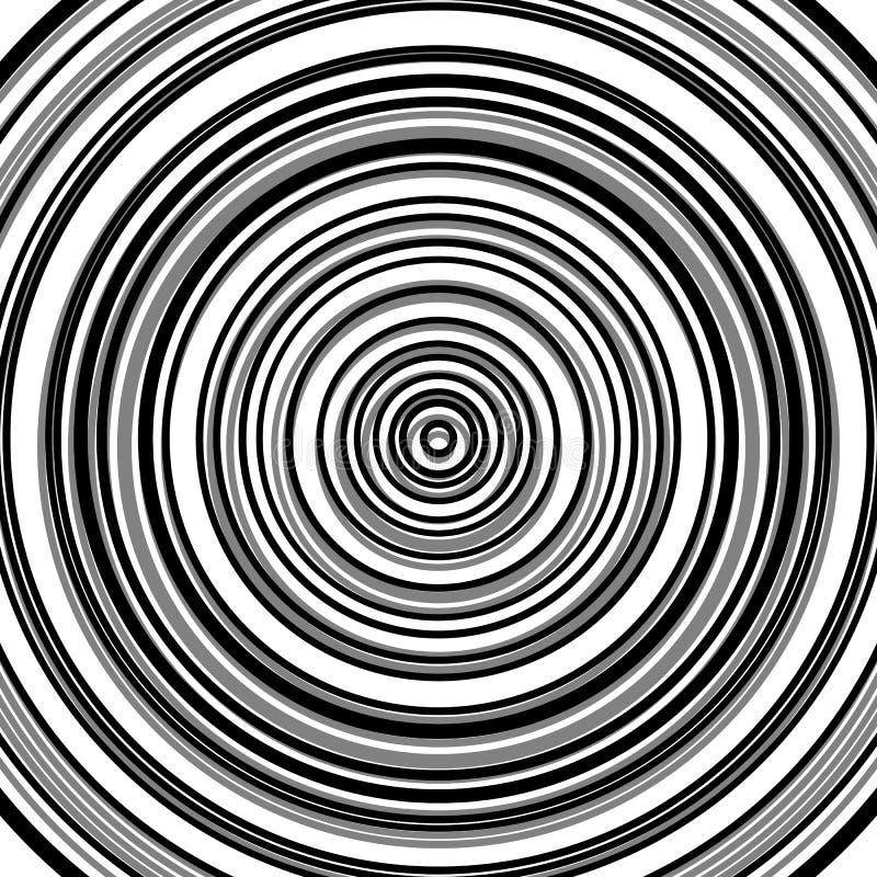 O teste padrão circular da ondinha, círculos concêntricos, soa o geom abstrato ilustração royalty free