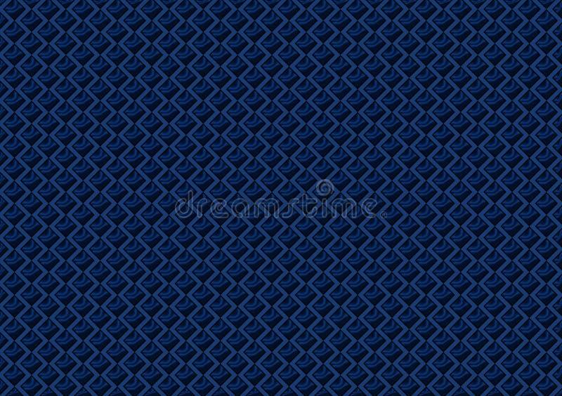 O teste padrão colorido azul verificou o papel de parede ilustração do vetor