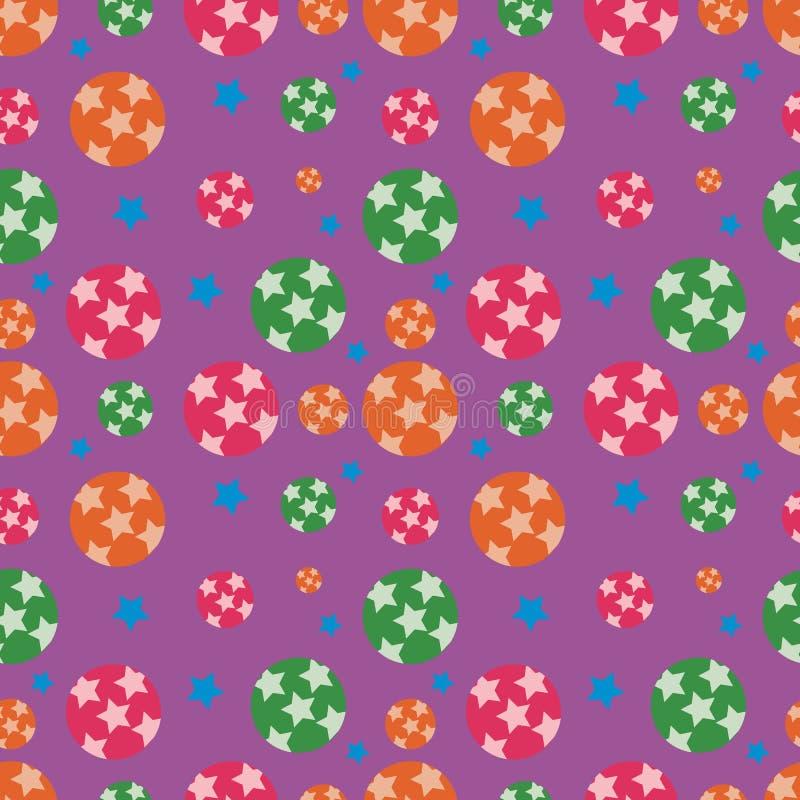 O teste padrão colorido festivo sem emenda, circunda e protagoniza no scatter o ilustração do vetor