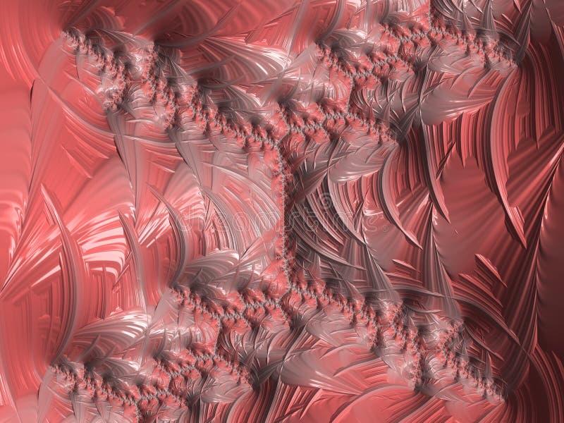 O teste padrão coral textured do fractal do sumário, 3d rende para o projeto e o entretenimento Fundo para o folheto e o cartaz,  ilustração do vetor