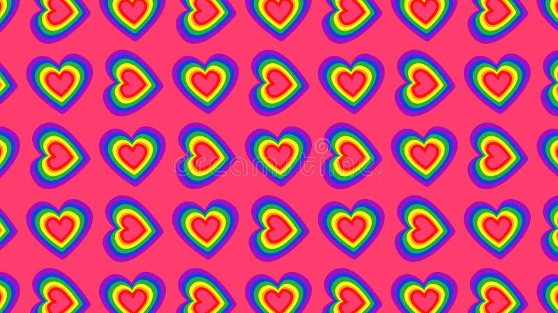 O teste padrão do coração é formado, metragem ideal para representar o amor e a igualdade de gênero ilustração royalty free