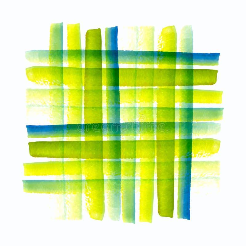 O teste padrão do vetor da aquarela, escova tirada mão textured a pintura da imagem ilustração stock