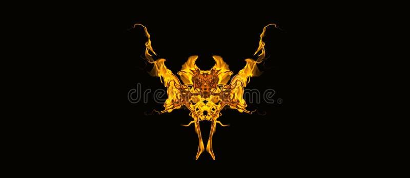 O teste padrão do vetor que descreve um bastão dourado gosta da criatura foto de stock royalty free