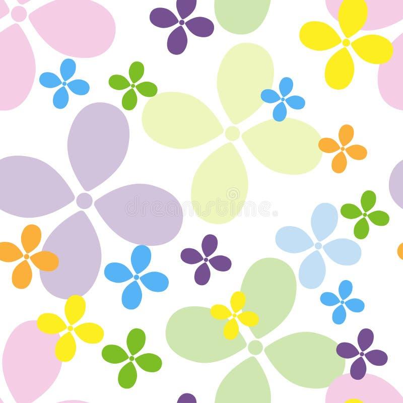 O teste padrão floral das crianças para a roupa, as matérias têxteis, os Web site e os blogues ilustração royalty free