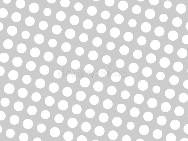 O teste padrão geométrico abstrato do círculo branco pontilha em vários tamanhos no fundo cinzento Projeto à moda moderno do veto ilustração royalty free