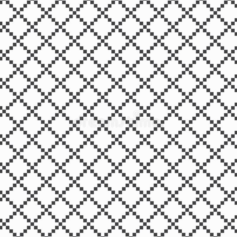 O teste padrão geométrico do vetor, repetindo o quadrado pequeno na forma do diamante do pixel, teste padrão está limpo para o pr ilustração stock