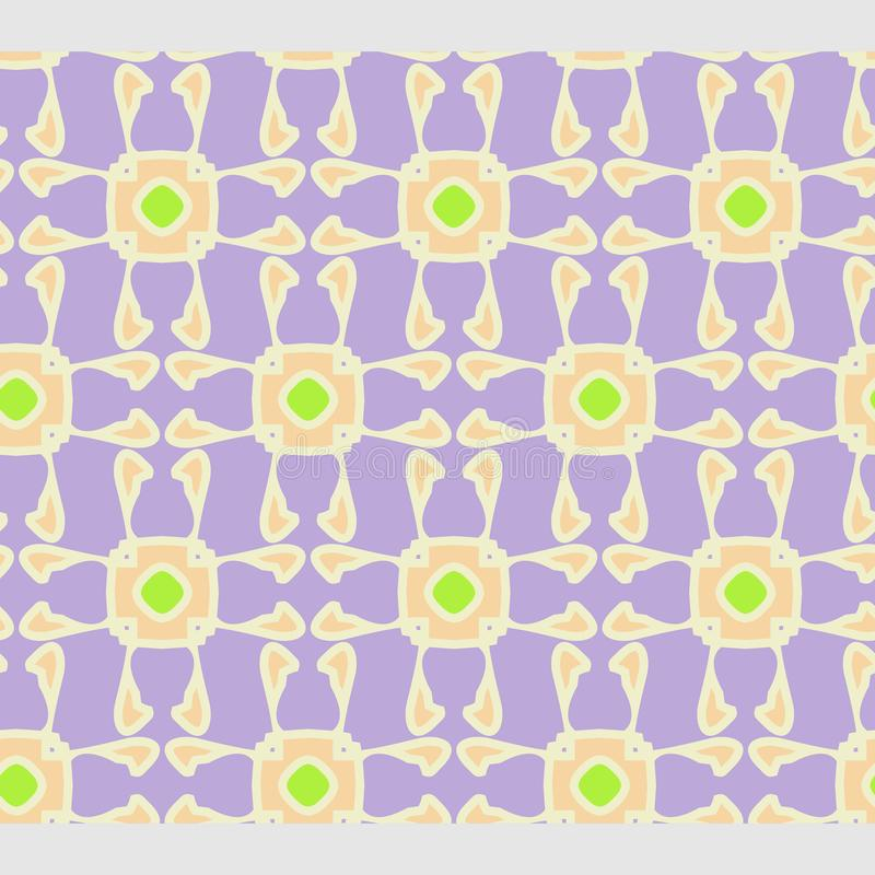 O teste padrão geométrico floral abstrato de Netrivail, fundo, vector sem emenda ilustração royalty free