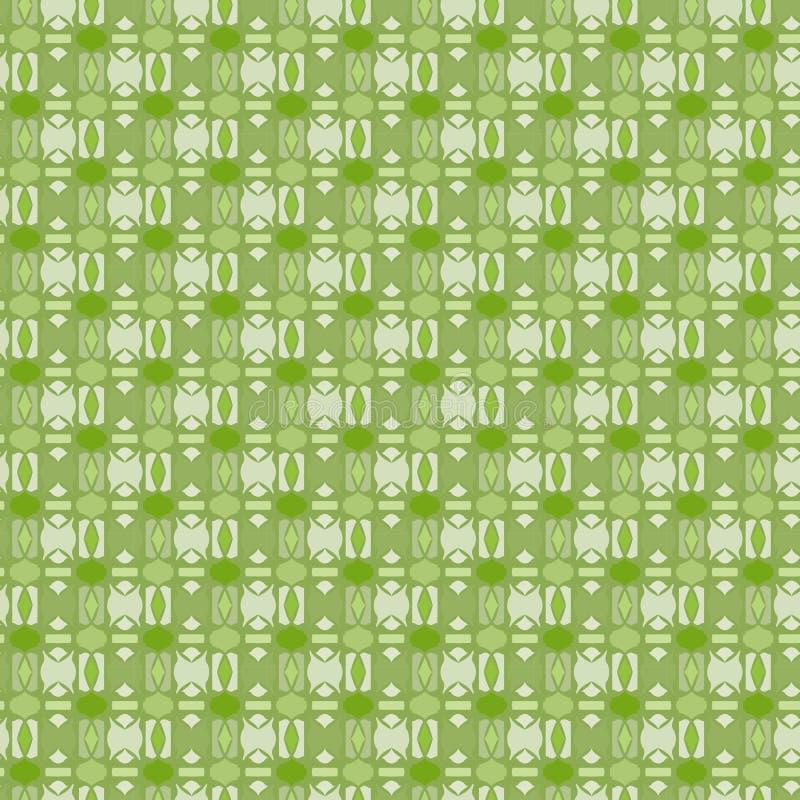 O teste padrão geométrico floral abstrato de Netrivail, fundo, vector sem emenda ilustração stock