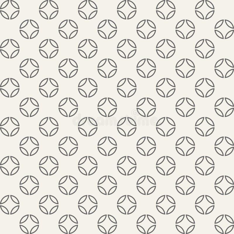 O teste padrão geométrico sem emenda abstrato dos círculos dividiu-se em quatro ilustração royalty free