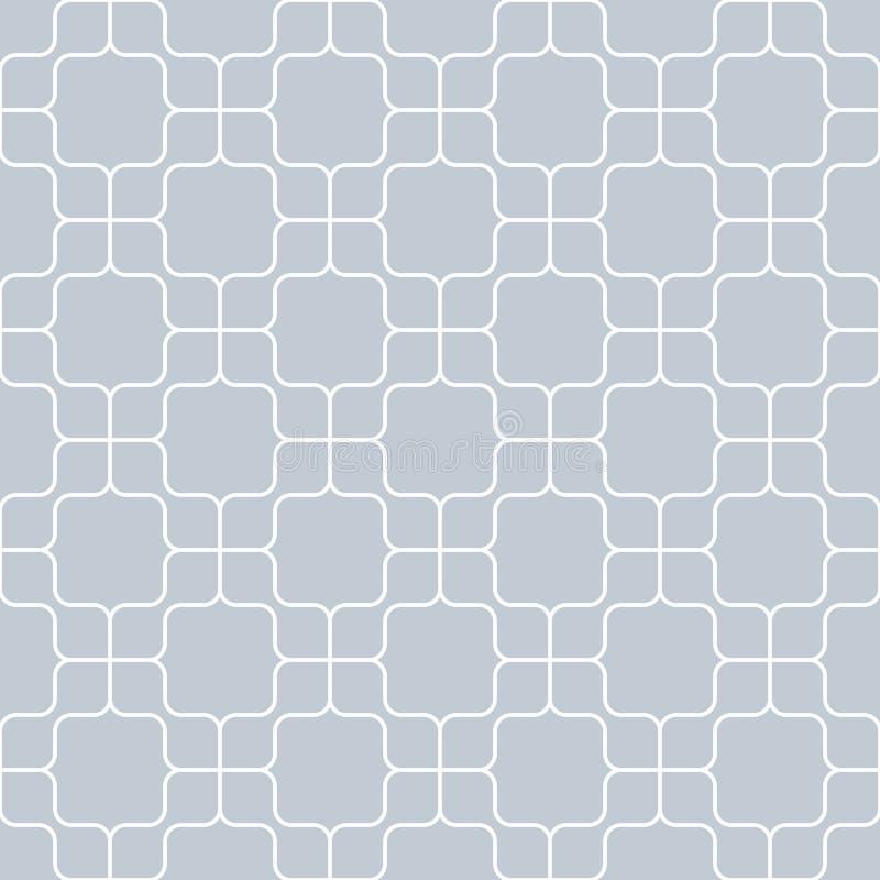 O teste padrão geométrico sem emenda, vintage curvou-se no fundo cinzento, listra o molde abstrato, ilustração do vetor ilustração stock