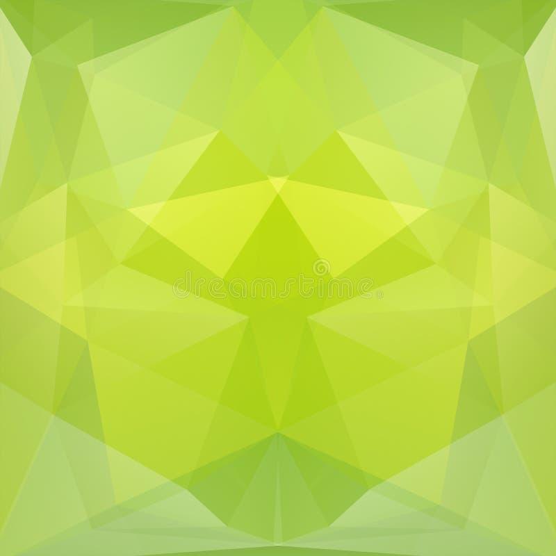O teste padrão geométrico, triângulos do polígono vector o fundo no verde ilustração do vetor