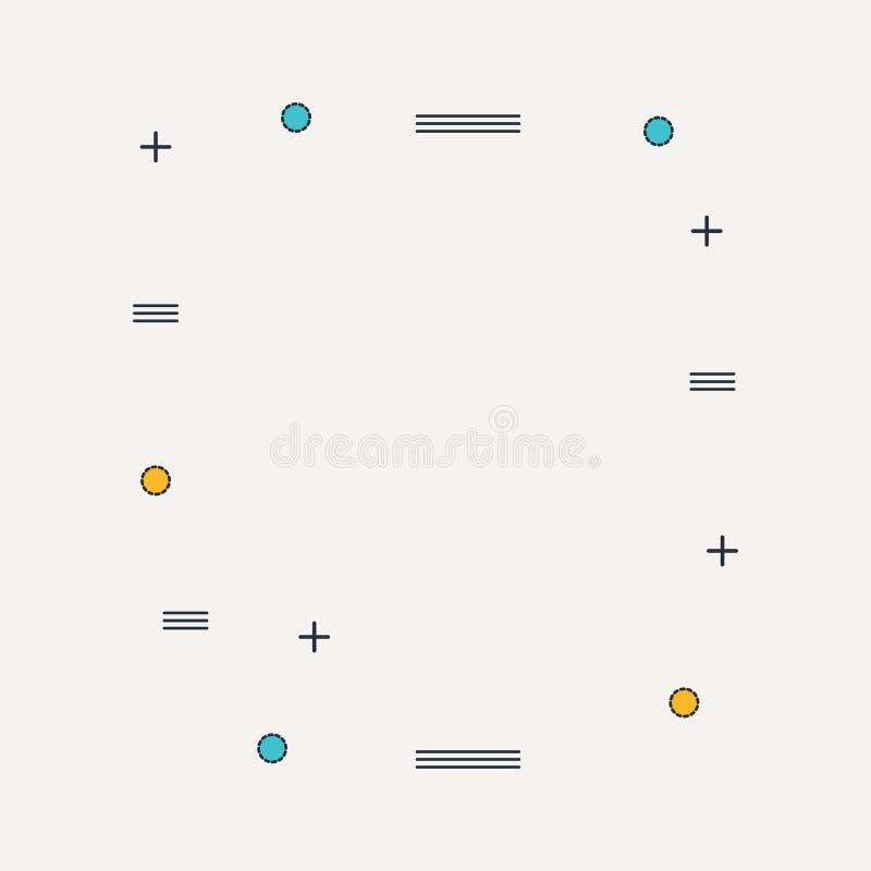 O teste padrão liso geométrico na moda, o quadro com fundo abstrato para o folheto, o inseto ou as apresentações projetam, vetor ilustração stock