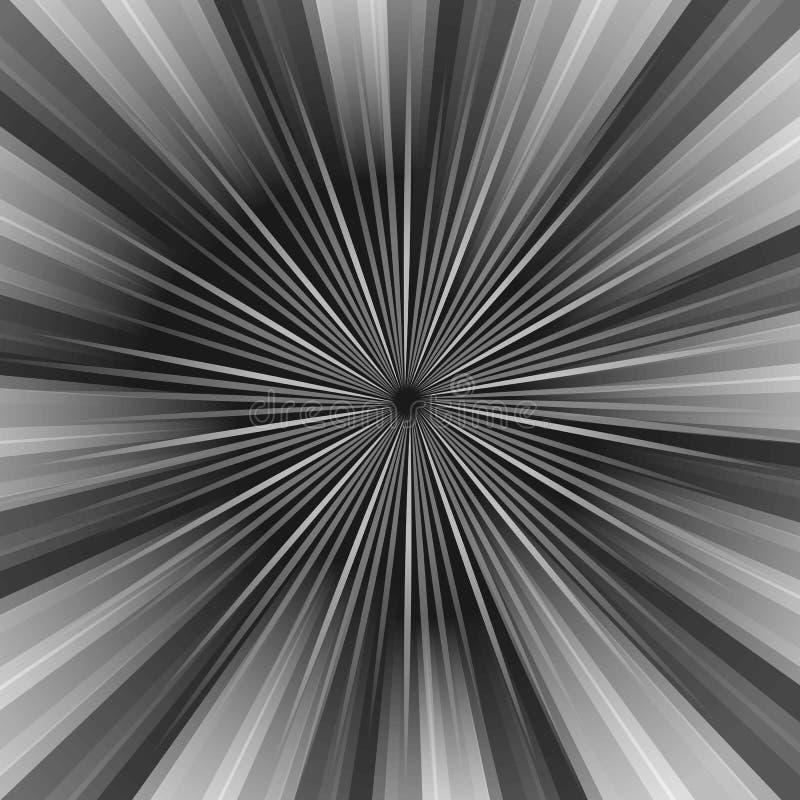 O teste padrão listrado dos raios com luz cinzenta estourou listras Fundo abstrato do papel de parede Ilustração do vintage do ve ilustração royalty free