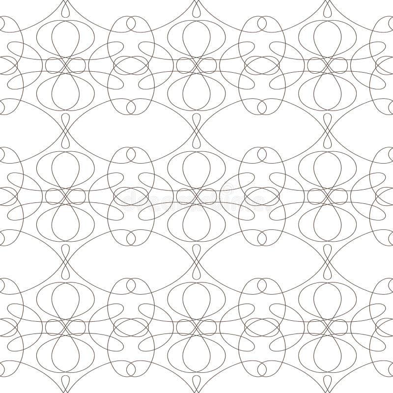 O teste padrão sem emenda com linhas onduladas alinha no fundo branco fotografia de stock royalty free