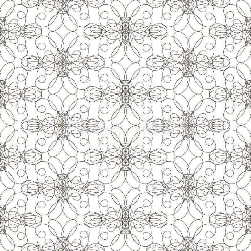 O teste padrão sem emenda com linhas onduladas alinha no fundo branco imagens de stock royalty free