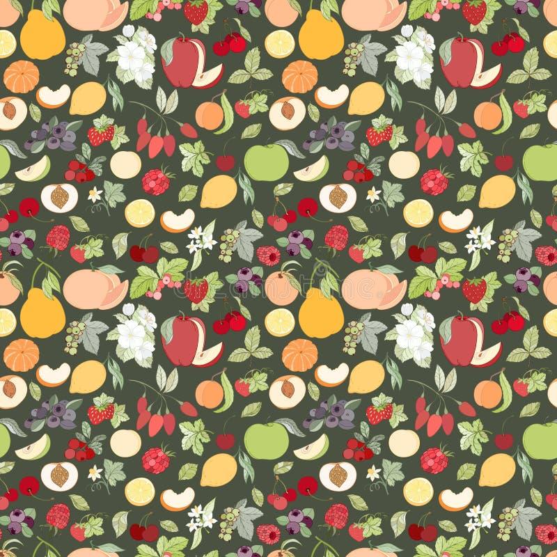 O teste padrão sem emenda do fruto ilustração royalty free