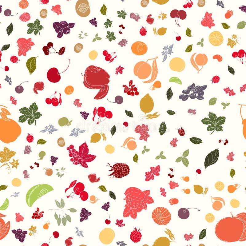 O teste padrão sem emenda do fruto ilustração stock