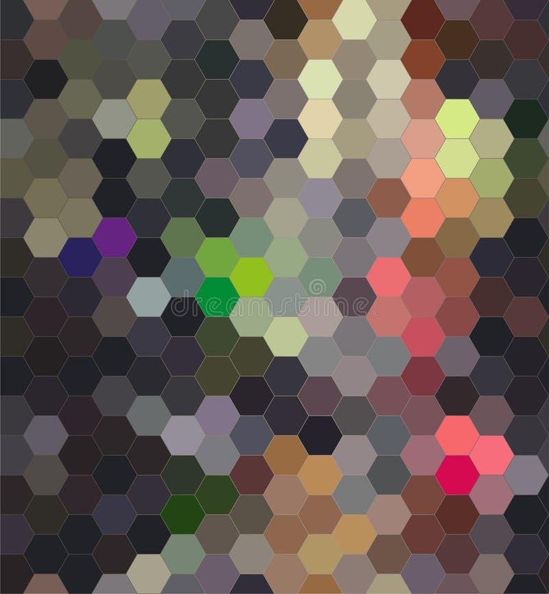 O teste padrão sem emenda do hexágono, vector o fundo abstrato ilustração royalty free