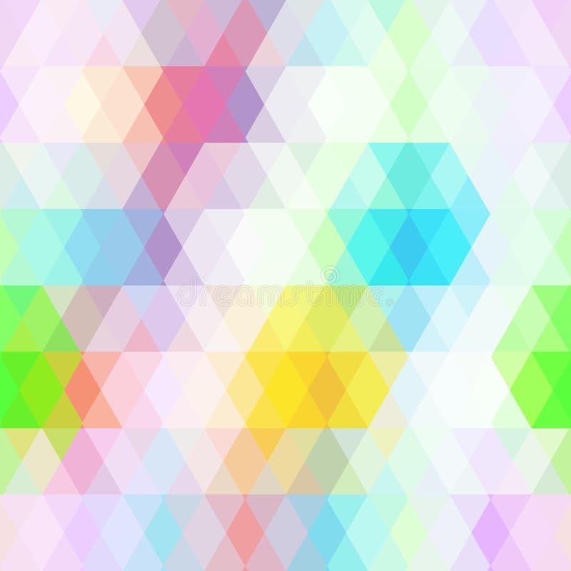 O teste padrão sem emenda dos modernos abstratos com cor pastel brilhante coloriu o rombo Fundo geométrico Vetor ilustração royalty free