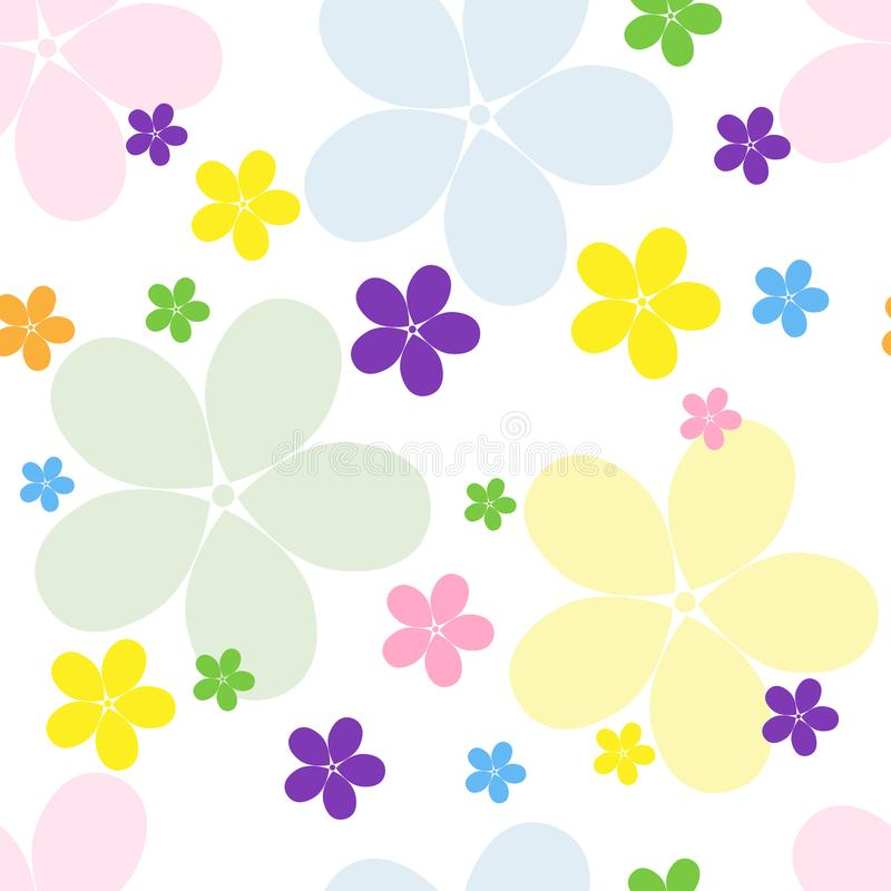 O teste padr?o floral das crian?as para a roupa, as mat?rias t?xteis, os Web site e os blogues ilustração stock