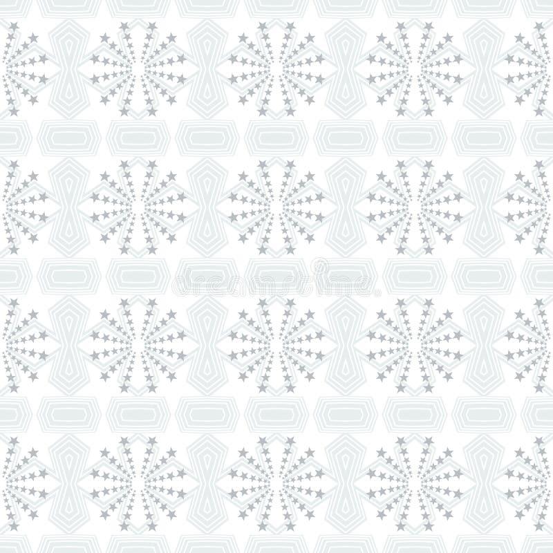 O teste padr?o geom?trico sem emenda de estrelas azuis e do pol?gono macios d? forma com linhas brancas Ilustra??o lisa do vetor  ilustração stock