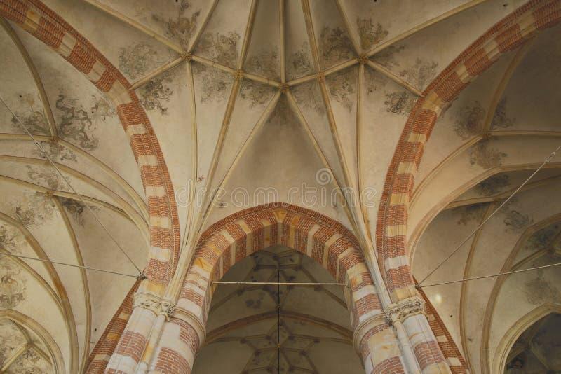 O teto da Grande Igreja, Deventer, Países Baixos imagens de stock