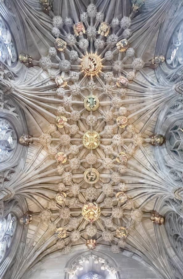 O teto incredibly bonito da capela do cardo na catedral de St Giles imagem de stock