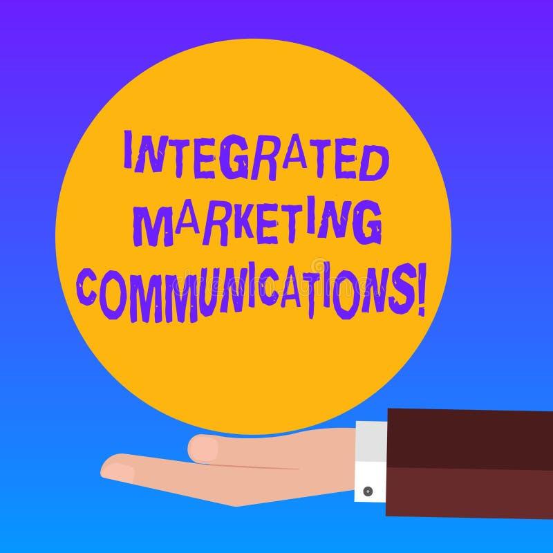 O texto da escrita integrou comunicações de mercado O significado do conceito ligou todos os formulários ou mão da análise de Hu  ilustração do vetor