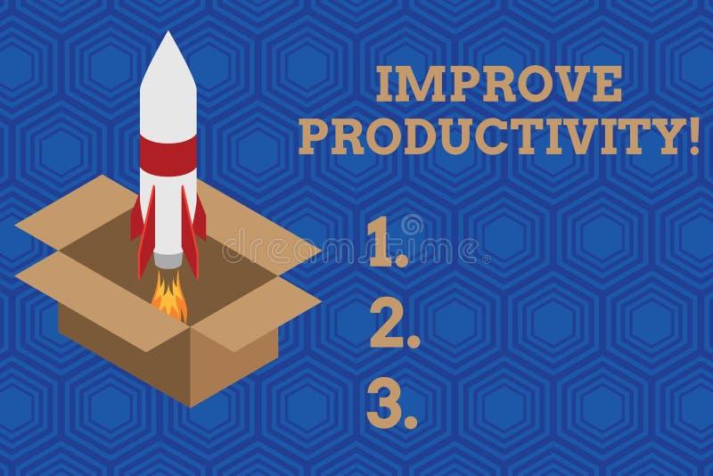 O texto da escrita melhora a produtividade O significado do conceito aumenta a qualidade do tempo e do fogo entrados de Perforana ilustração royalty free