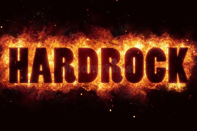 O texto da música rock de Hardrock no fogo arde a explosão ilustração royalty free