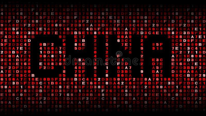 O texto de China encanta sobre a ilustração do código ilustração do vetor