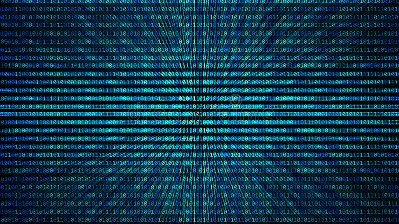 01 o textura del modelo del número de código binario en el ordenador en digi stock de ilustración