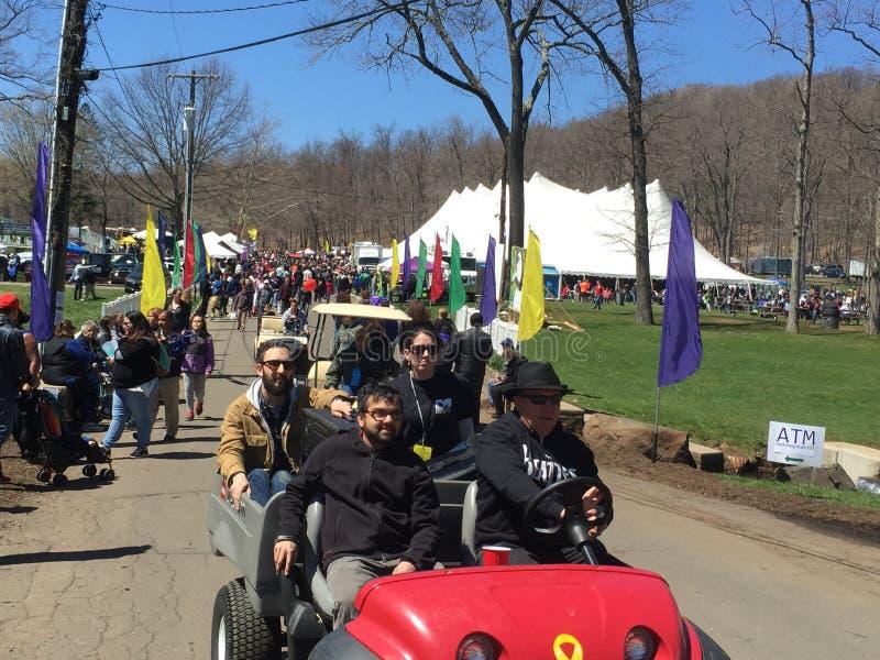 O 37th festival anual do narciso amarelo em Meriden, Connecticut fotografia de stock royalty free