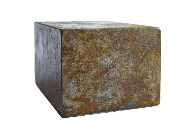 O tijolo de aço isolou-se fotos de stock royalty free