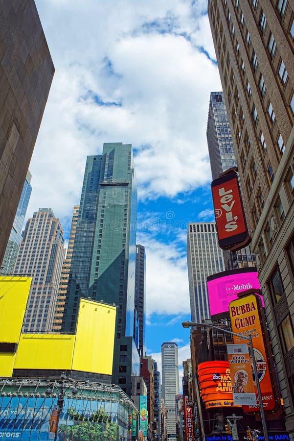 7o Times Square NYC EUA de Broadway da avenida fotos de stock