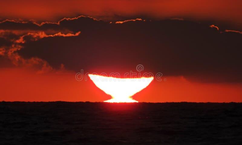 O toque do sol imagem de stock