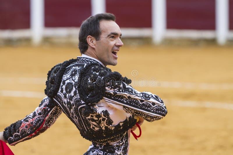 O toureiro espanhol Manuel Jesus El Cid With uma cara dos satis fotos de stock royalty free