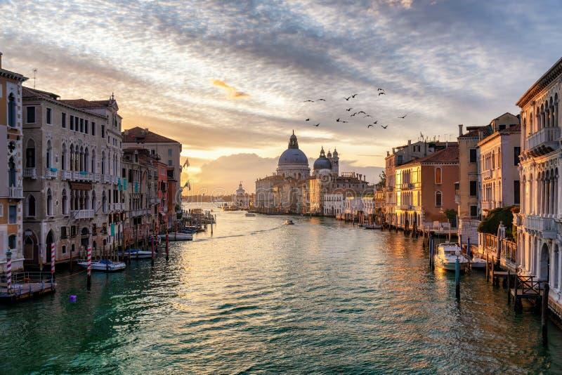 O towncape de Veneza, Itália durante o nascer do sol imagem de stock