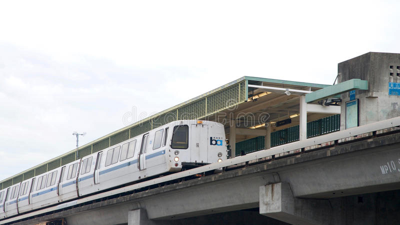 O trânsito rápido da área da baía, BARONETE, late estação justa imagem de stock