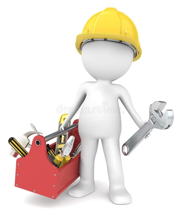 O trabalhador manual. ilustração stock