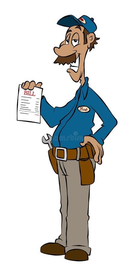 O trabalhador manual ilustração do vetor