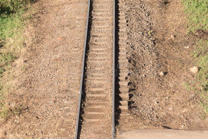 O trajeto das locomotivas 01 fotografia de stock