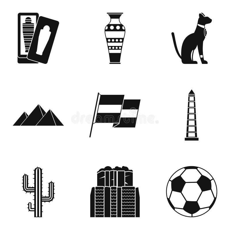O trajeto de ícones do curso ajustou-se, estilo simples ilustração do vetor