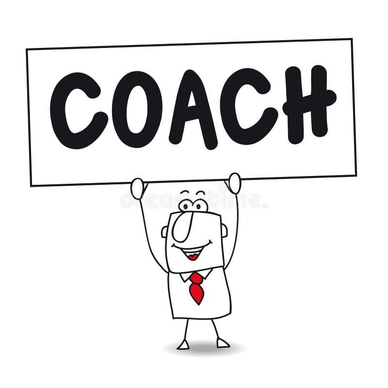 O treinador ilustração royalty free