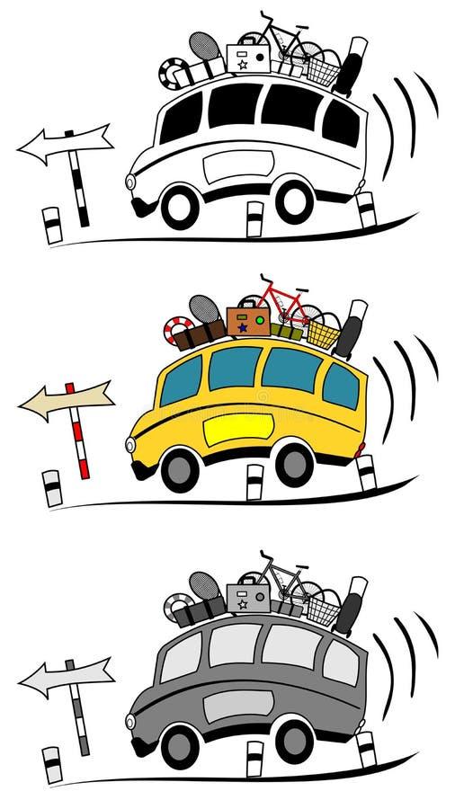O treinador transporta desenhos animados ilustração stock