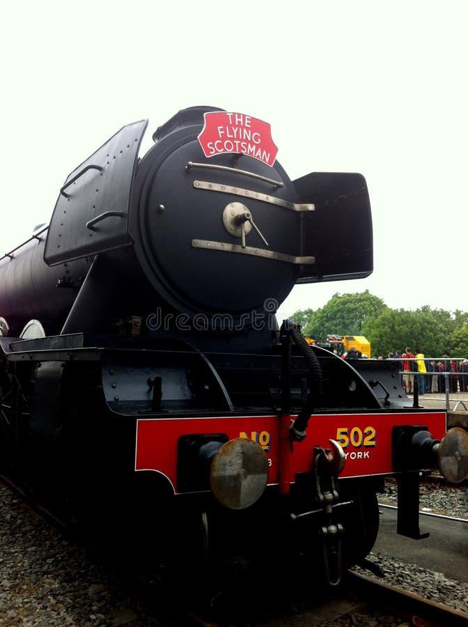 O trem do vapor do Scotsman do voo foto de stock royalty free