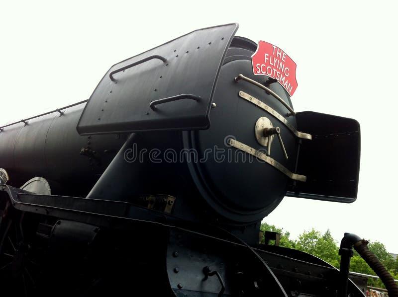 O trem do vapor do Scotsman do voo imagem de stock royalty free