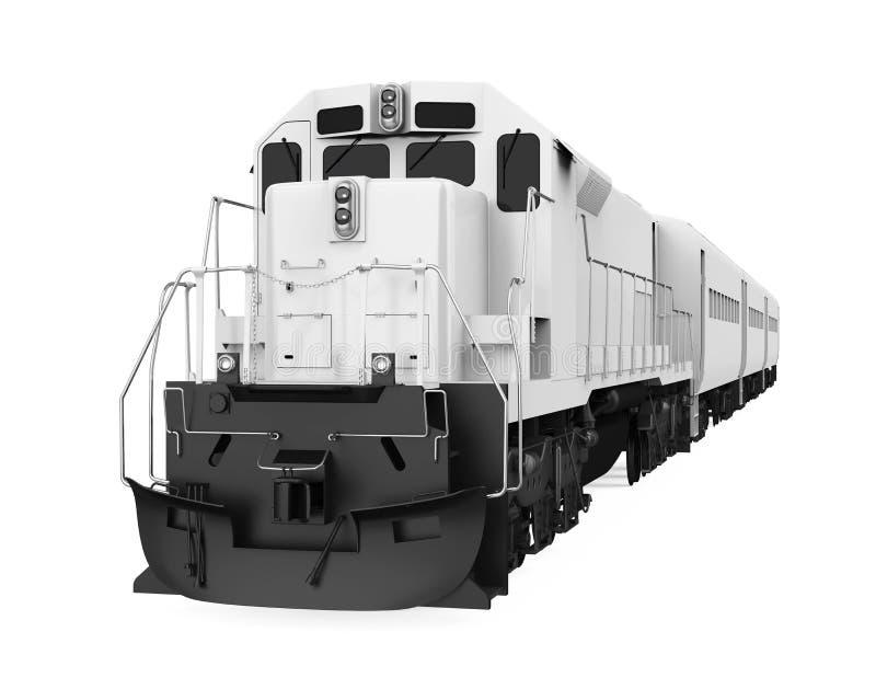 O trem locomotivo diesel isolou-se ilustração stock